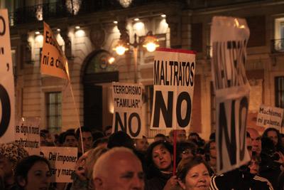 Acto contra la violencia de género, el pasado 25 de noviembre, en la Puerta del Sol de Madrid. Reyes Sedano