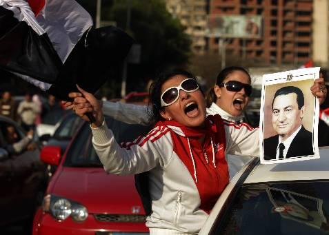 Seguidores del presidente. AFP PHOTO/PATRICK BAZ