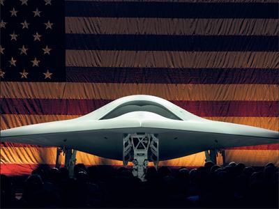 El bombardero X-47B está equipado con bombas guiadas por láser.