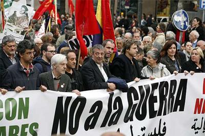 Cabecera de la manifestación de Madrid. - MÓNICA PATXOT