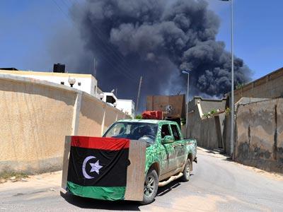 Rebeldes en Al Ghiran, a las afueras de Misurata.