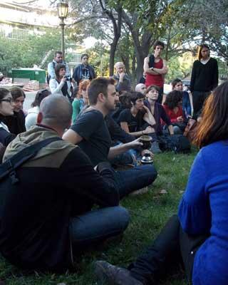 Protesta en Buenos Aires.