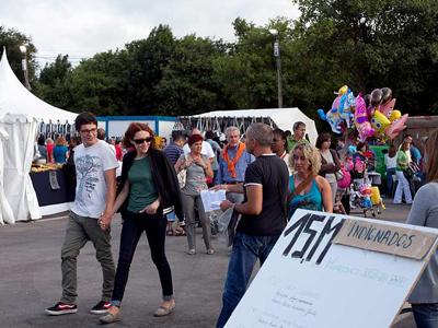 Los indignados también están presentes en la semana negra del Festival de Gijón. Gabriel Pecot