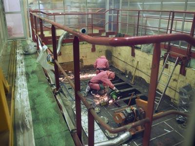 Interior de las instalaciones de Marcoule, en las que se produjo el accidente mortal.-