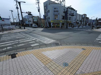Imagen de una de las ciudades situadas en la zona de exclusión de Fukushima.