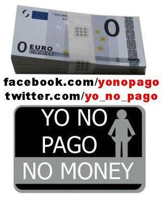 Cartel del movimiento 'Yo no pago'