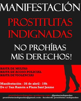 Manfiestació 26/abril Prostitutes indignades