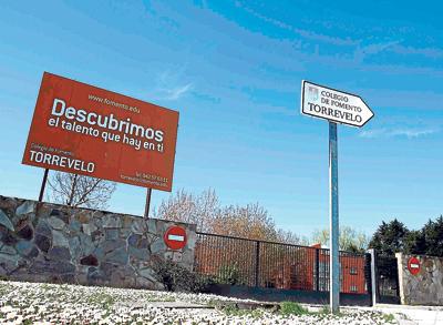 Entrada al centro de educación masculina Torrevelo, vinculado al Opus Dei. FOTO: A. ANDERS