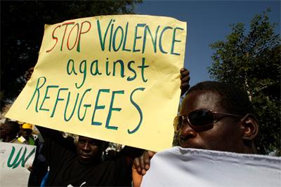 Protesta en Tel Aviv contra la deportación de sursudaneses. -