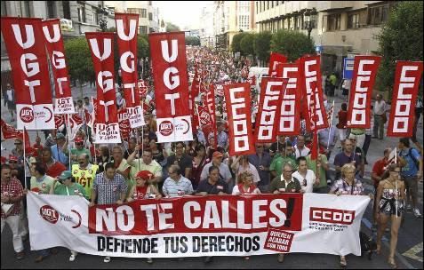 Imágen de la protesta en Burgos.- Santi Otero (EFE)