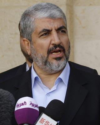 El líder en el exilio del movimiento palestino Hamás, Jaled Meshal. -