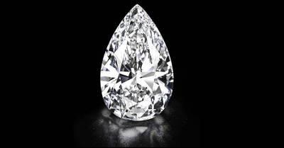 Imagen del diamante incoloro subastado por la casa Christie's.