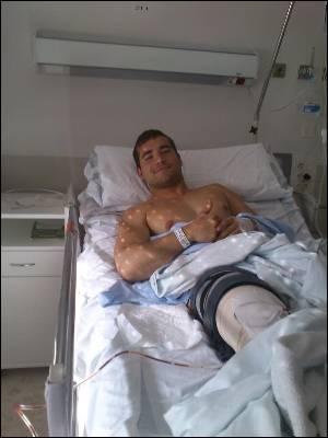 Adrian García, afectado por el copago ortopédico.Imagen del facebook de Adrián.