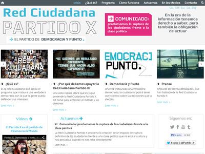Imagen de la web del Partido X.