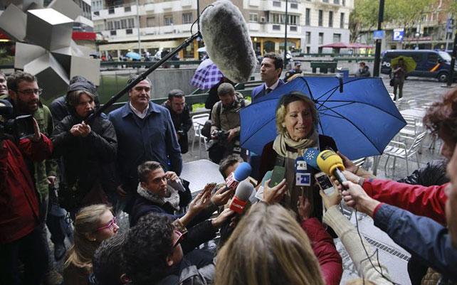 Esperanza Aguirre, a su llegada a los Juzgados de lo Social de Madrid. EFE