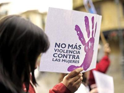 Imagen de una protesta contra la violencia machista