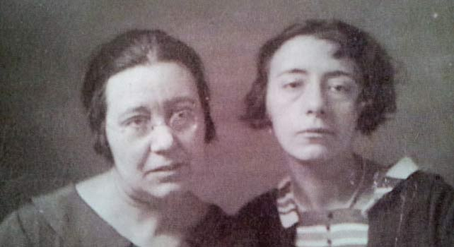 Las hermanas Josefa y Elisa Úriz Pi.