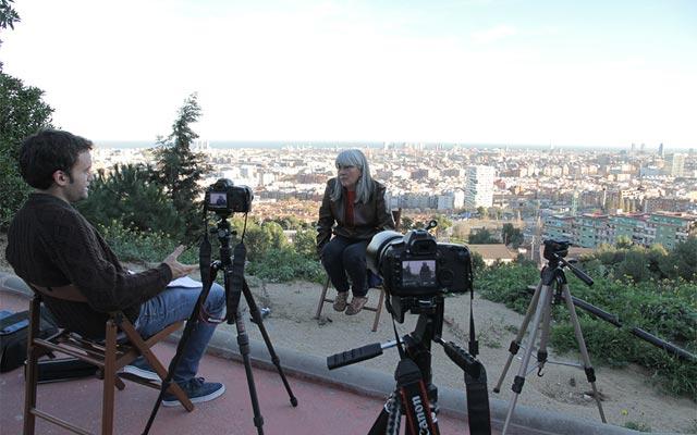 Un momento de la entrevista de Carlos Suárez a Merçona Puig para el documental.