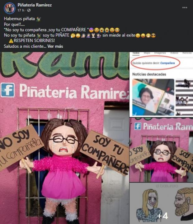 Una vez más el establecimiento realizó una piñata con el tema más controversial de las redes sociales.