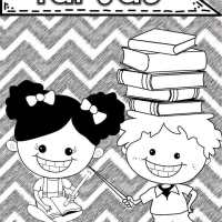 Caratulas para Cuadernos Escolares para Colorear de Primaria