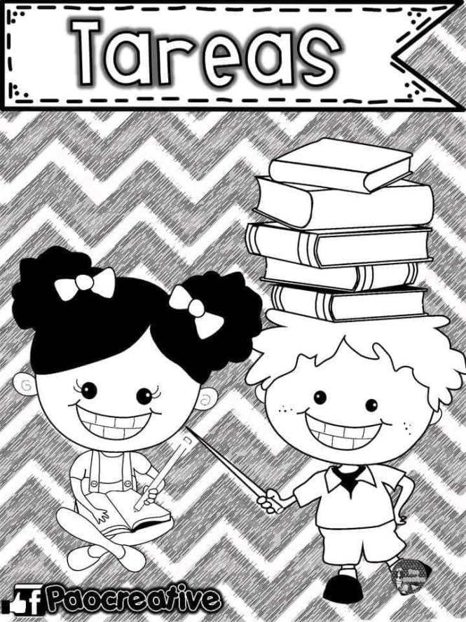 Caratulas para Cuadernos Escolares