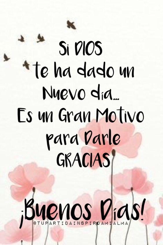 Imágenes con Frases de Buenos Días Feliz Domingo Bendecido