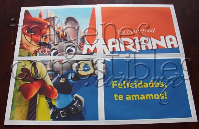 Impresión tipo póster con imagen comestible