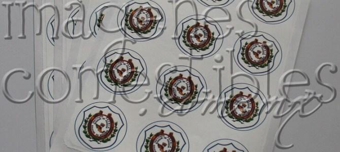 Escudos o logotipos con imagen comestible