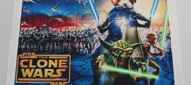 Hoja comestible con imagen de The Clone Wars