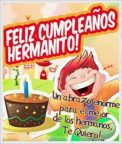 Imágenes con Frases de Feliz Cumpleaños Hermano Querido