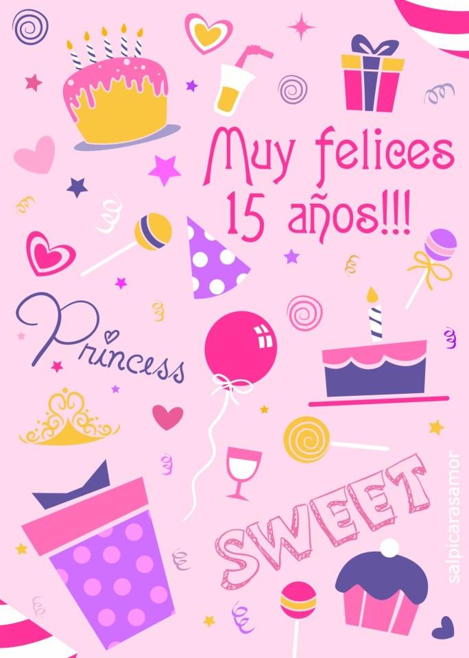 Tarjetas De Cumpleaños Para Sobrina De 15