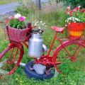 Imagenes Con Ideas de decoracion para el jardin reciclando Bicicletas