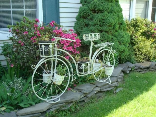 Imagenes De Ideas Para Decoracion De Jardines Con Bicicletas