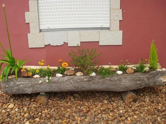 Imagenes de jardines decorados con troncos for Ver jardines decorados
