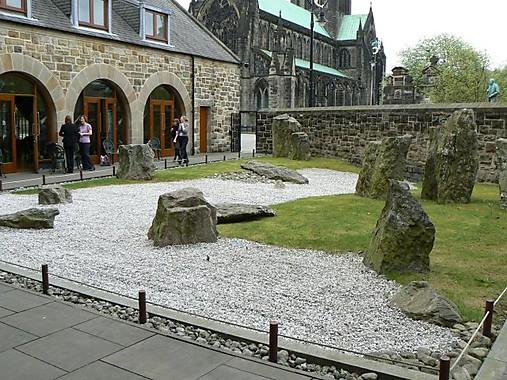 Jardin Zen, San. Mungo Museo de arte y vida religiosa, Glasgow, Escocia