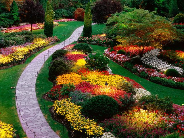 Jardines floridos wallpaper celular