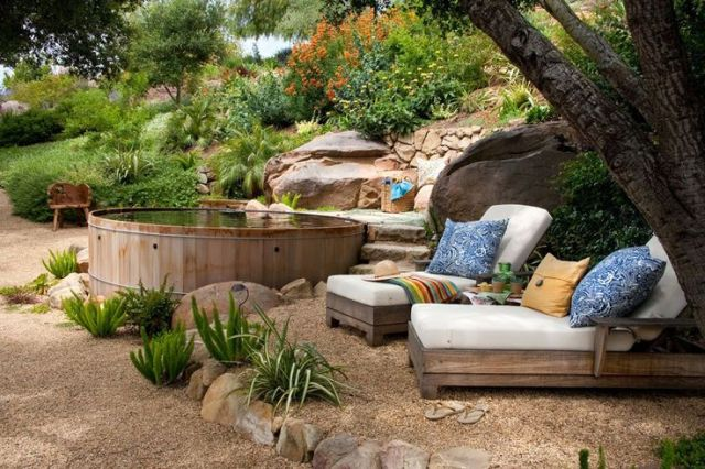 Decoracion de Jardines con muebles rusticos