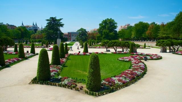 Fotos del jardin del parque del retiro de Madrid
