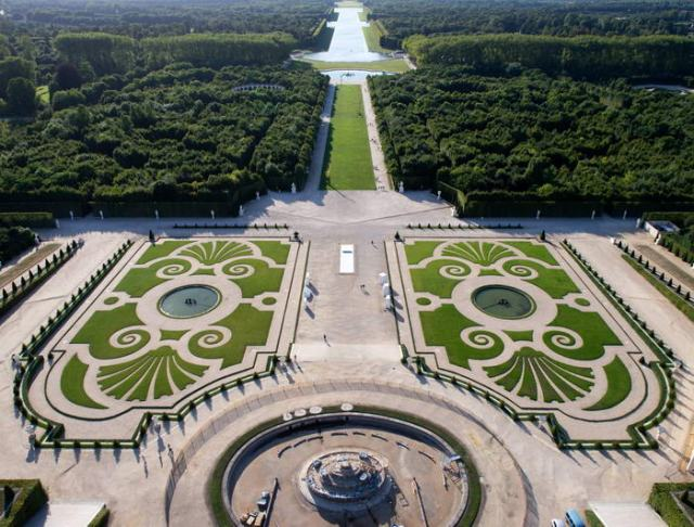 Imagen Vista Superior jardines de Versalles