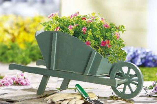 Imagenes de carretillas recicladas para el jardin