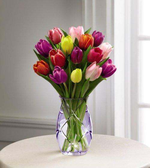 Imagenes de un bonito ramo de tulipanes