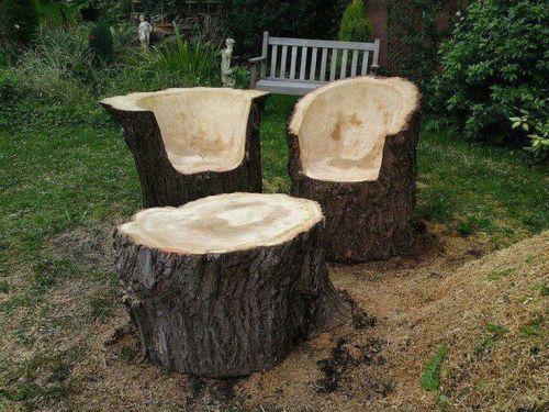 Sillas rusticas para el jardin