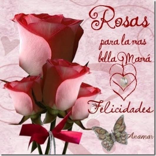 Bonitas Imagenes De Flores Con Frases Para Felicitar a Las Mamas En Su Dia