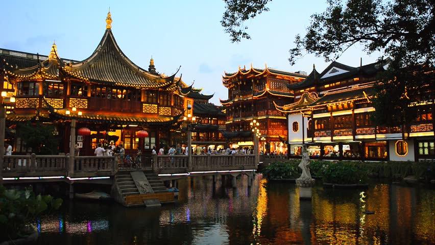 Fotos de noche del jardin yuyuan en china shanghai for Jardin de china