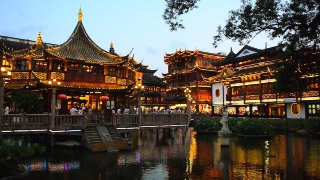 Fotos De Noche Del Jardin Yuyuan En China Shanghai