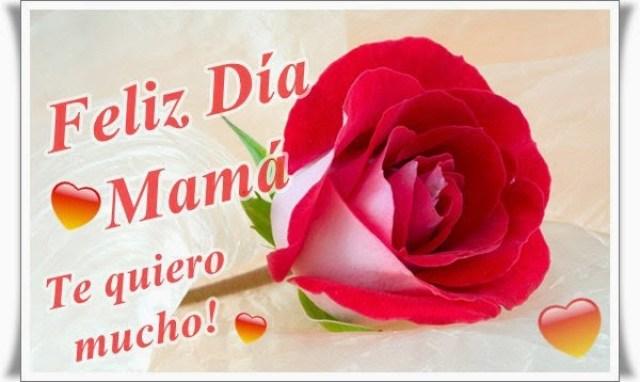 Imagen rosa con frases Feliz dia mama
