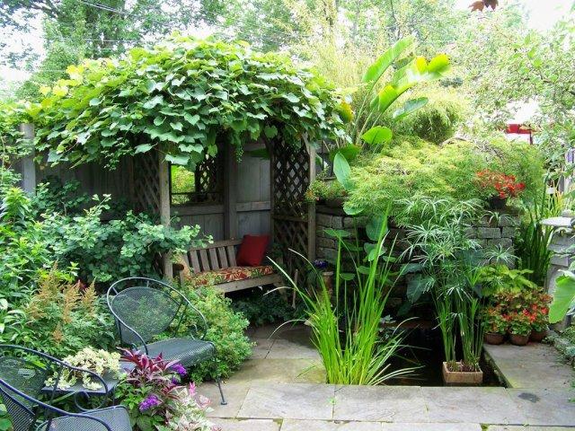 Imagenes de Espacios para descansar en el jardin