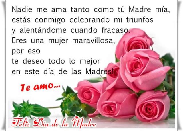 Imagenes de rosas con mensajes para mama en su dia