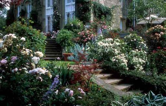 Imagenes del Jardin de flores en Gresgarth Hall