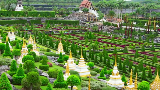 Nong Nooch jardin botanico tropical en Tailandia